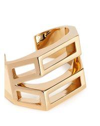 Chloé | Metallic 'bianca' Geometric Cutout Cuff | Lyst