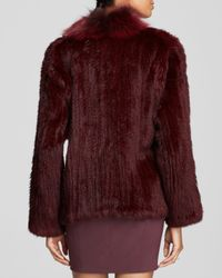 Elizabeth and James - Red Rabbit Fur Coat - Lyst