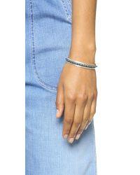 Chan Luu - Metallic Beaded Cuff Bracelet - Silver Night - Lyst