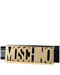 Moschino - Metallic Leather Belt - Lyst