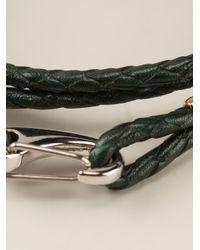 Paul Smith - Green Woven Bracelet for Men - Lyst