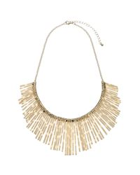 John Lewis | Metallic Textured Fan Necklace | Lyst