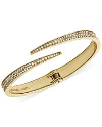 Michael Kors | Metallic Glass Stone Bypass Bracelet | Lyst