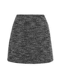 TOPSHOP | Gray Boucle Mini Skirt | Lyst