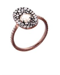 Susan Foster - Pink Diamond & Rose-Gold Bubbly Ring - Lyst