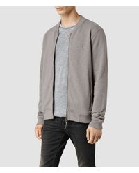 AllSaints - Gray Oldsen Bomber for Men - Lyst