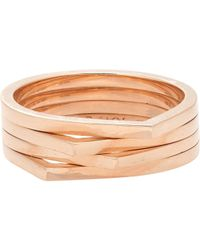 Repossi | Pink Four-row Antifer Ring | Lyst