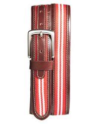 Jack Mason Brand | Orange 'tailgate - Wisconsin Badgers' Belt | Lyst
