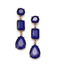 kate spade new york | Blue Linear Drop Earrings | Lyst