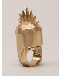 Kelly Wearstler - Metallic 'head Trip' Ring - Lyst