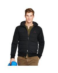 Ralph Lauren - Black Cotton-blend-fleece Jacket for Men - Lyst