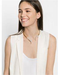 BaubleBar | Metallic Medusa Pearl Collar | Lyst