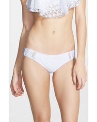 Rip Curl - White 'dream Girl' Bikini Bottoms - Lyst