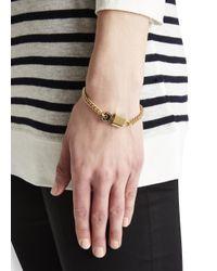Marc By Marc Jacobs | Metallic Lock In Black Gold Tone Bracelet | Lyst