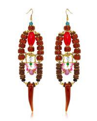 Anita Quansah London - Red Elysium Earrings - Lyst