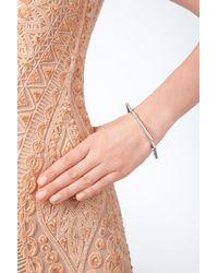 Lynn Ban | Metallic Sterling Silver Angular Bangle With White Diamonds | Lyst