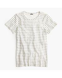 J.Crew | Natural Sparkle Foulard T-shirt | Lyst