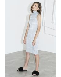 C/meo Collective - Gray New Guard Short Sleeve Dress - Lyst