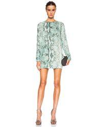 Balmain - Green Silk Dress - Lyst