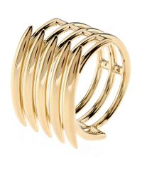 Shaun Leane | Metallic Silver And Gold Vermeil Quill Ring | Lyst