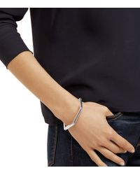 Tory Burch - Metallic Hex-logo Hinged Bracelet - Lyst