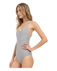Billabong - Gray It's All About The Details One-piece - Lyst