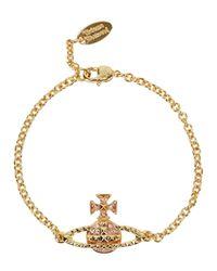 Vivienne Westwood | Metallic Mayfair Swarovski Gold Tone Bracelet | Lyst