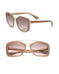 Prada | Pink 56mm Square Sunglasses | Lyst