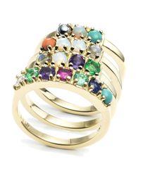 "Lulu Frost | Multicolor Code 18kt ""love"" Ring | Lyst"