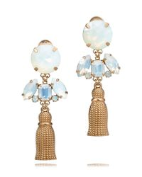 Tory Burch | Metallic Catlin Metal Tassel Earring | Lyst