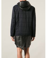 Alexander Wang - Blue Two-tone Padded Coat - Lyst
