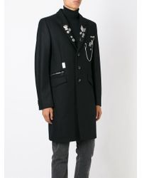 Diesel Black Gold - Black 'ja-raw' Coat for Men - Lyst