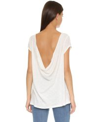 Free People - White Prairie Tee - Shell - Lyst