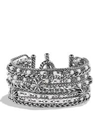 David Yurman | Metallic Starburst Chain Bracelet With Pearls | Lyst