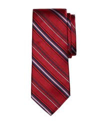 Brooks Brothers - Red Alternating Stripe Tie for Men - Lyst