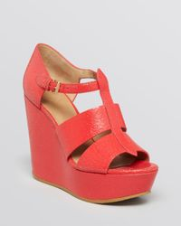 Marc By Marc Jacobs | Red Dreaming Of The Days Platform Wedge Sandals | Lyst