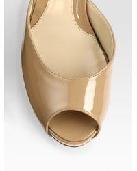 Fendi | Natural FF Superstar Patent Leather Slides | Lyst