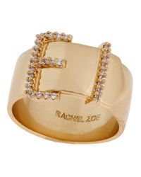 Rachel Zoe | Metallic Belt Buckle Ring | Lyst