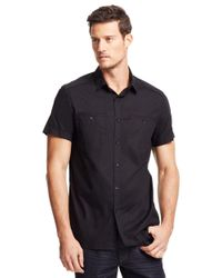 Kenneth Cole | Black Poplin Sportshirt for Men | Lyst