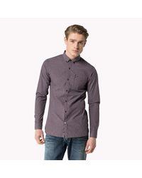 Tommy Hilfiger - Purple Cotton Poplin Shirt for Men - Lyst