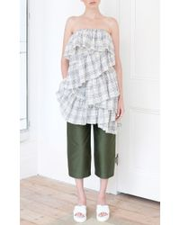 Isa Arfen - Green Relaxed Crop Pants - Lyst
