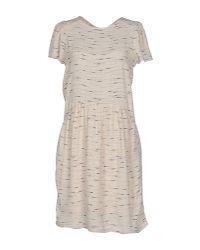 Sessun | Natural Short Dress | Lyst