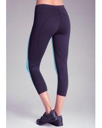 Bebe - Black Colorblock Cropped Pants - Lyst