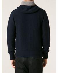 Moncler - Blue Zip Cardigan for Men - Lyst
