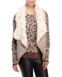 Love Token | Pink Jaden Ombrã© Real Fur Vest | Lyst
