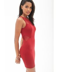 Forever 21 - Red Dynamite Lace Bodycon Dress You've Been Added To The Waitlist - Lyst