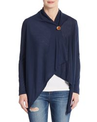 Bobeau | Blue Asymmetrical Button-front Cardigan | Lyst
