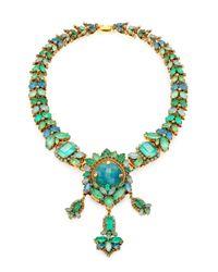 Aerin Erickson Beamon - Green Jewel Necklace - Lyst