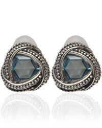Stephen Dweck | Metallic Silver Blue Topaz Clip-On Earrings | Lyst