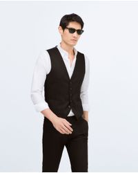 Zara | Black Suit Waistcoat for Men | Lyst